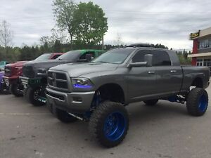 "mega cab 14"" lift, cummins, American Force"