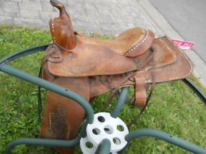 "Western Saddle - Hereford Brand - Tex Tan - Early 1930""s"