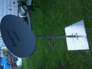 Rv satellite dish and stand