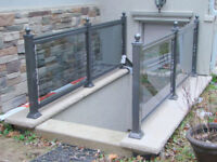 Glass railings. OUTDOOR. GTA and 60 km WEST and NORTH