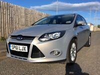 2011 Ford Focus titanium tdci full ford service 1 previous owner £20 tax 12 months mot *REDUCED*