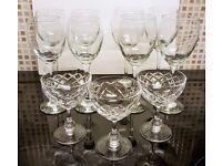 Job Lot/ Bundle - 11 Glassware Items incl. Wine glasses & Champagne glasses