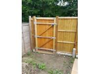 Garden fence panels and gate and posts
