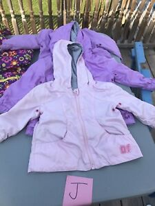 Girls Spring & Rain Coats Various Sizes
