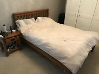 Double bed for sale (with or without mattress) bed is from oak furniture land