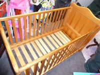 Solid Wood Baby Cot / Cot Bed
