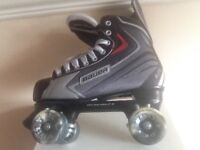 Size 9 Bauer roller skates,in very good condition,airwaves wheels abec bearings