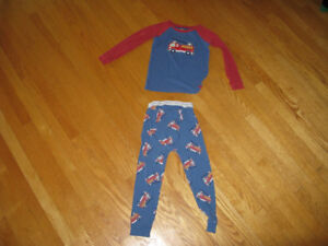 Gap for Kids Firetruck pattern pajamas, two piece