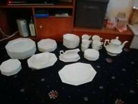 Johnston Heritage White Dinner Set