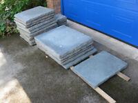 Assorted Stonemarket Olde London grey paving slabs for sale