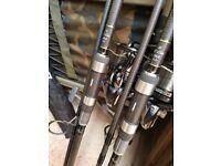 Freespirit E-class gold rods & Shimano ultegra 14000 ci4 reels
