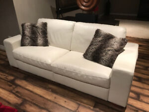 Natuzzi Leather Sofa/ Couch and Club Chair