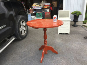 Vintage Round Pedestal Parlor Table