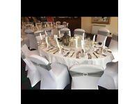 174 Silver Wedding Chair Sashes