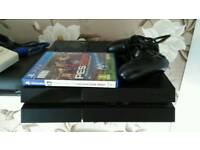 PS4 500gb 1 controller, 1 game and all leads (including HDMI)