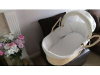 Moses Basket - Wicker- For Baby