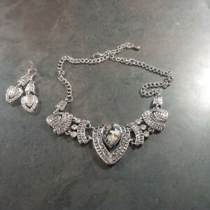 vintage necklace and earrings set # 5