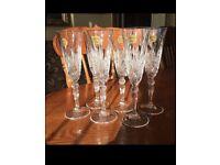 Crystal glasses champagne flutes set