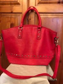 Gorgeous red studded bag