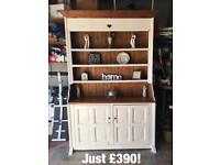 FAB DRESSERS cream kitchen dining living pine oak storage unit console wood Mexican