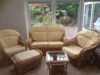 Conservatory furniture suite.