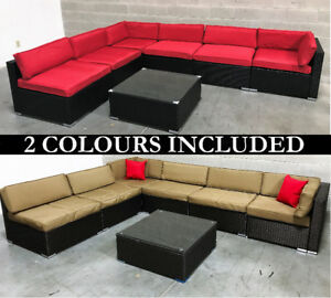 Outdoor Patio Wicker Furniture TWO COLORS INCLUDED - 6476998240