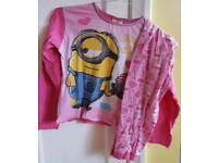Girls long sleeve minion pyjama - Minions