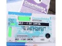 Gold 4 Day Camping Creamfields 2017