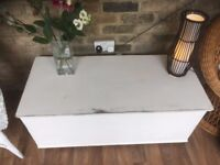 Chest Vintage Large Wooden Coffee Table Toy Box Seat Storage Shabby Chic