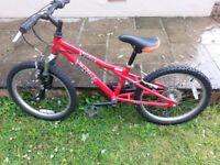 """Dawes Red Tail bike 20"""" frame"""