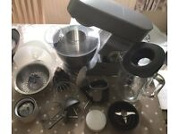 Kenwood Chef Mixer, blender, juicer and mini chopper with storage jars. Nearly new