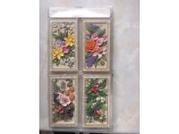 Selection of decorative floral wall plaques
