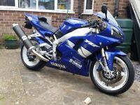 Mint Yamaha R1 1999 model registered in 2000, 14K miles full MOT and full service history