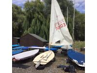 Laser Sailing Dinghy, 72303, standard rig, complete and ready to sail