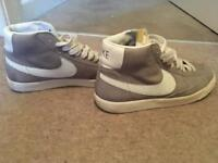 NIKE SIZE 6 grey high top trainers