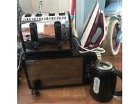 Microwave Iron Kettle 4 Slice Toaster