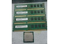 i5 2500 CPU and 8GB DDR3 RAM