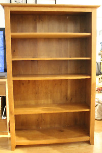 $50 OBO - Wooden bookcase with adjustable shelves