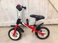 Balance bike - Milly Mally Dragon. Includes a brand new comfy gel saddle, back brake + proper tyres