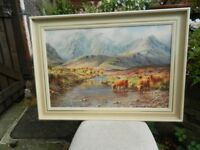 Rex Preston oil Painting framed on canvas Giclee Print