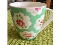 Cath Kidston Provence Green Rose Mug (UNUSED)