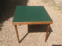 Card Table with green felt top