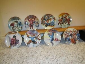 Collector Plates - Face Off set of hockey plates