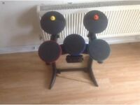 PS3 drum kit with sticks and controller