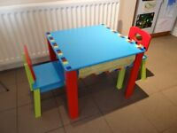 Child's Table and Chair Set - Very Good condition