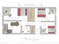 HMO 3 bed ground floor Flat, near aberdeen uni & bridge of don