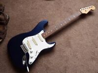 Electric guitar vintage, Blue