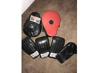 Sparring gloves and pads by Pro Tech