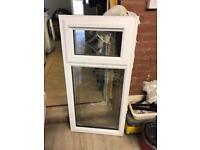 White Upvc leaded window