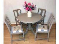 Beautiful Refurbished Dining Kitchen Table with 4 Chairs. DELIVERY AVAILABLE